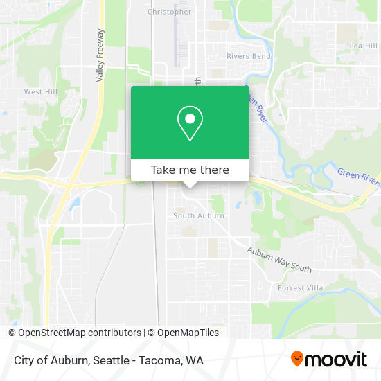 Mapa de City of Auburn