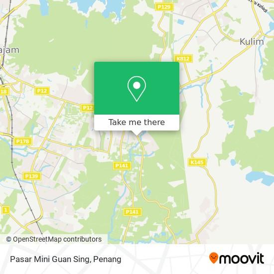 Pasar Mini Guan Sing map