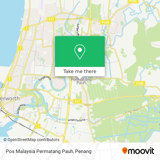Pos Malaysia Permatang Pauh map