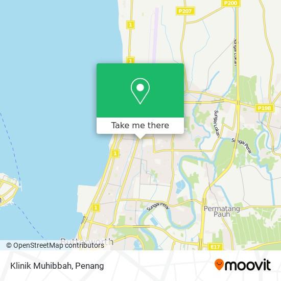 Klinik Muhibbah map