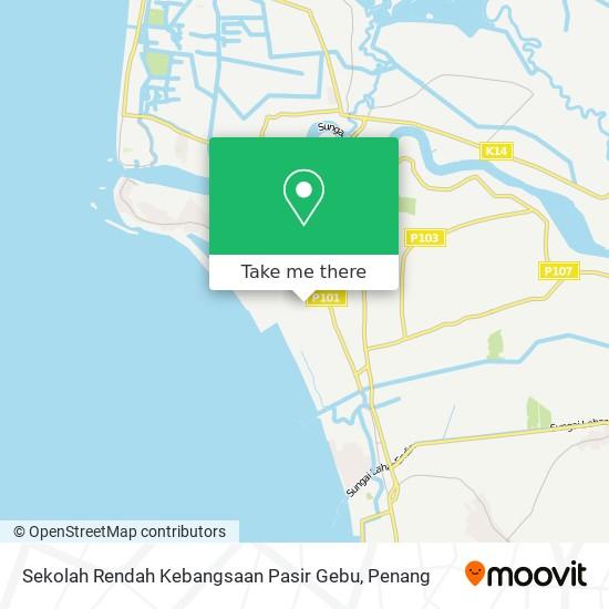 Sekolah Rendah Kebangsaan Pasir Gebu地图