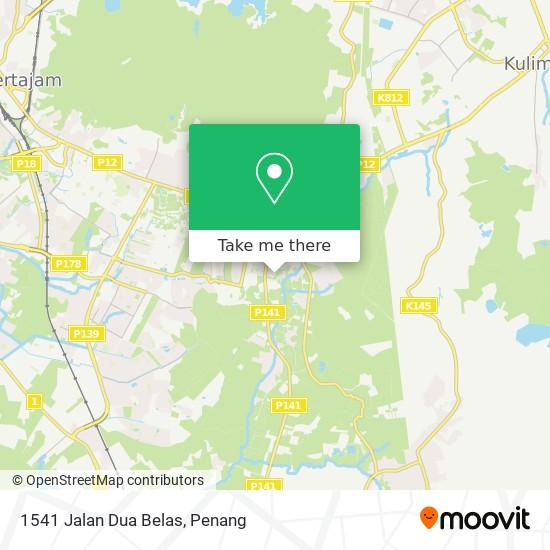 Peta 1541 Jalan Dua Belas