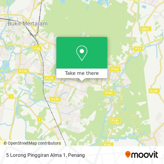 5 Lorong Pinggiran Alma 1 map