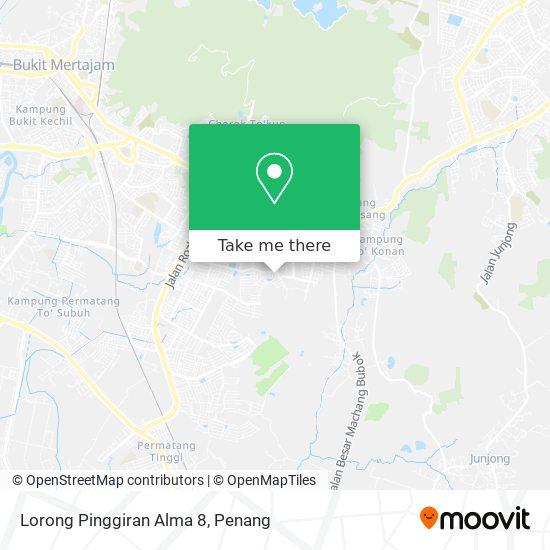 Peta Lorong Pinggiran Alma 8