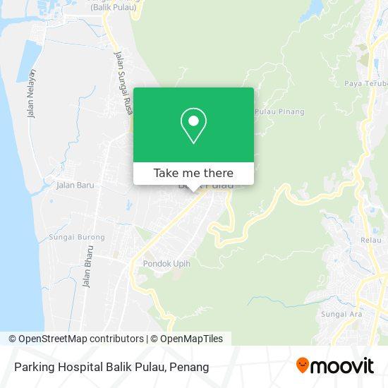 Parking Hospital Balik Pulau地图