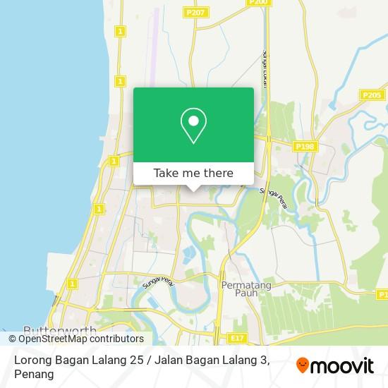 Lorong Bagan Lalang 25 / Jalan Bagan Lalang 3地图