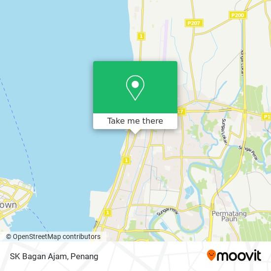 Peta SK Bagan Ajam