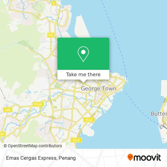 Emas Cergas Express地图