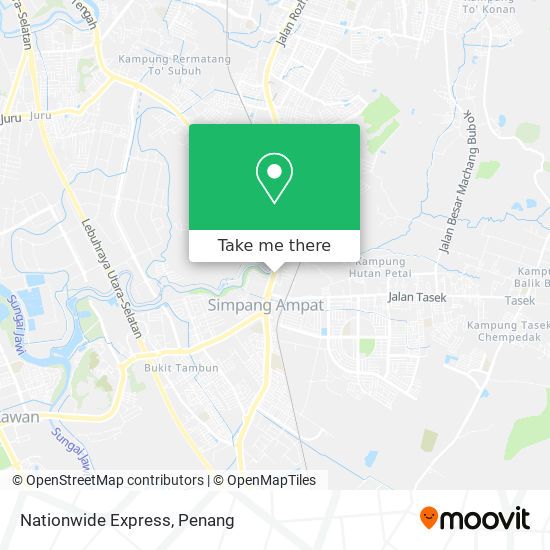 Nationwide Express地图