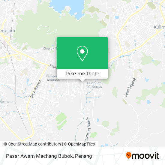Pasar Awam Machang Bubok map