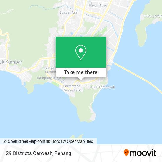 29 Districts Carwash map