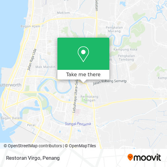Restoran Virgo map