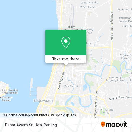 Pasar Awam Sri Uda map