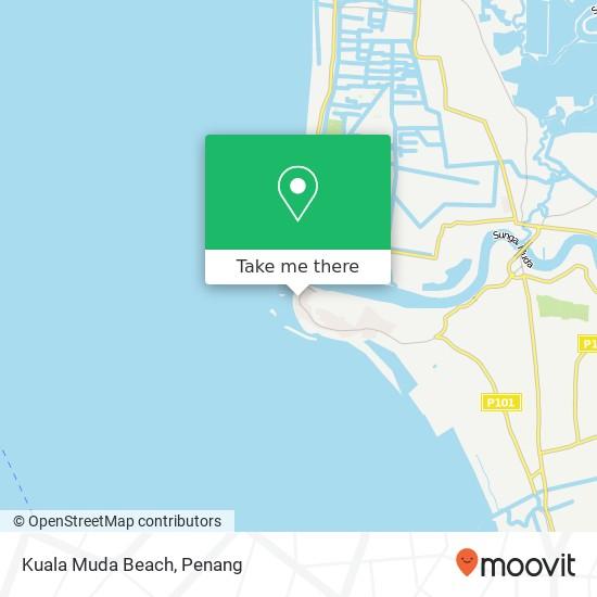 Peta Kuala Muda Beach