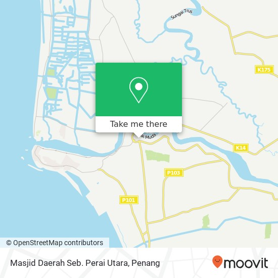 Masjid Daerah Seb. Perai Utara map