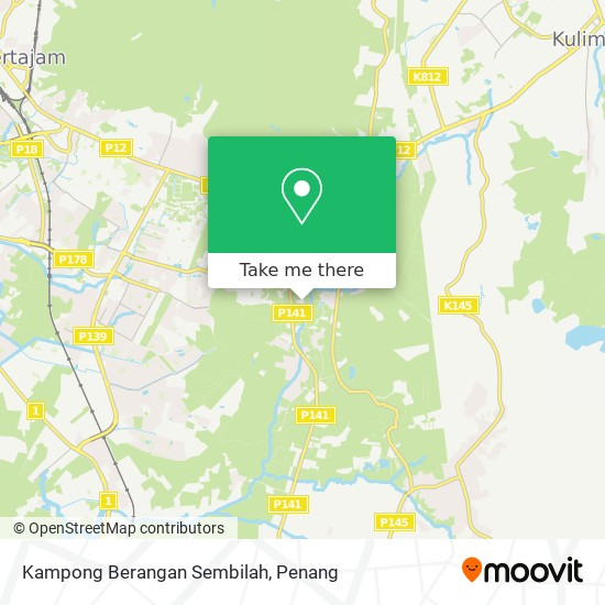 Peta Kampong Berangan Sembilah