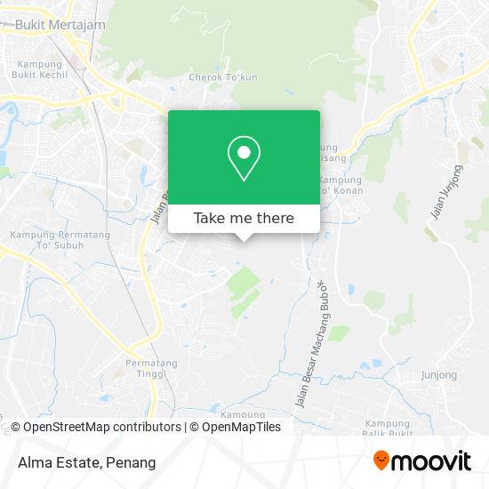 Alma Estate map