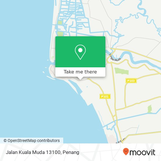 Jalan Kuala Muda 13100 map