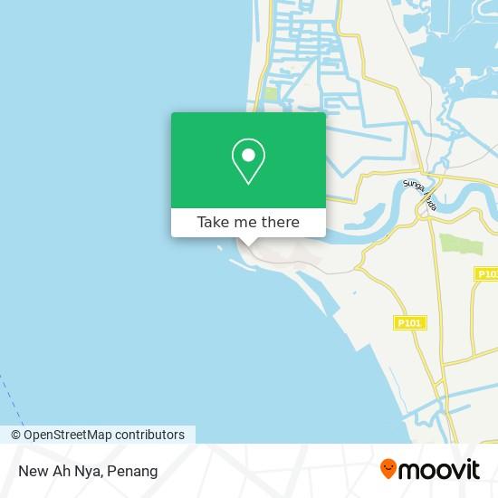 Peta New Ah Nya, Jalan Kuala Muda 13100 Penaga Pulau Pinang