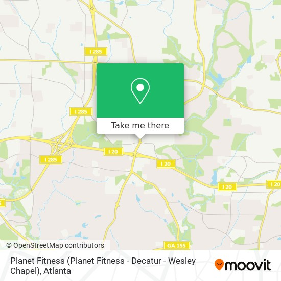 How To Get To Planet Fitness Planet Fitness Decatur Wesley Chapel In Dekalb By Bus Or Subway Moovit
