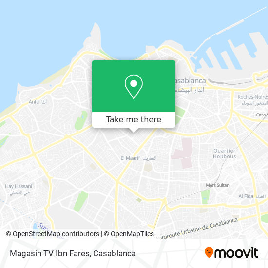 Magasin TV Ibn Fares map