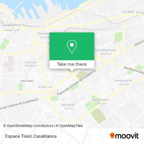 Espace Tissir map