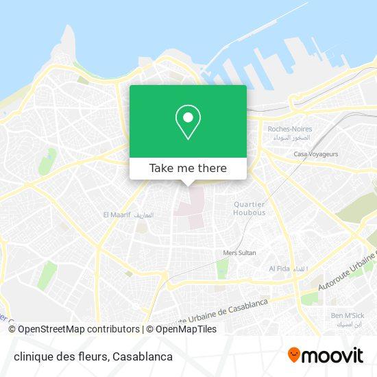 clinique des fleurs map