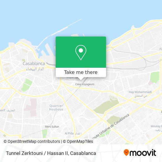 Tunnel Zerktouni / Hassan II map