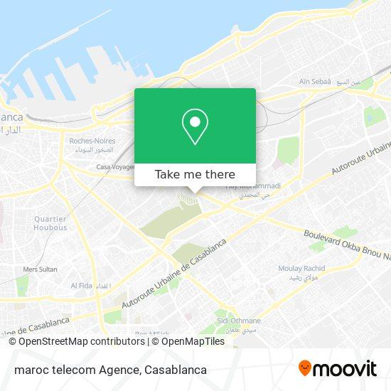 maroc telecom Agence map