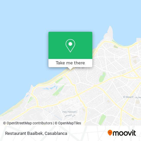 Restaurant Baalbek map