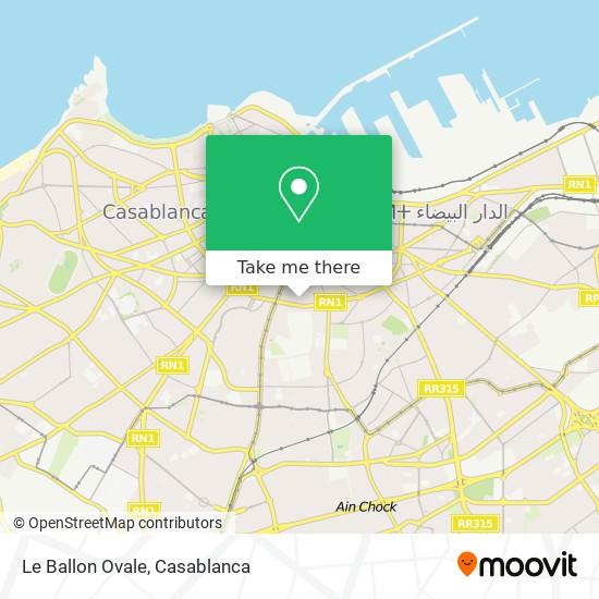 Le Ballon Ovale map