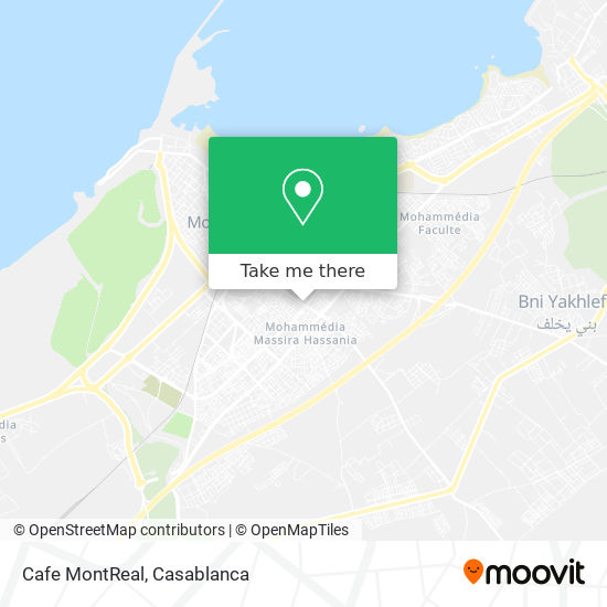 Cafe MontReal map