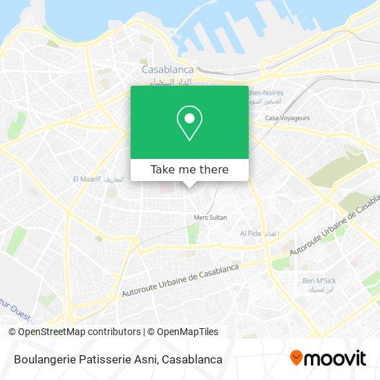 Boulangerie Patisserie Asni map