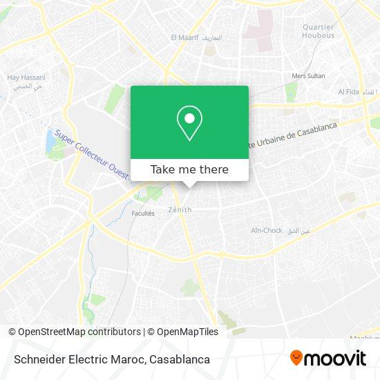 Schneider Electric Maroc map