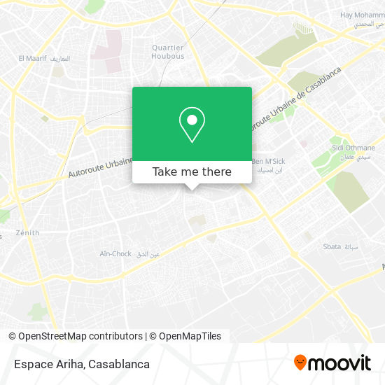 Espace Ariha map