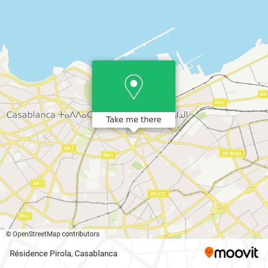 Résidence Pirola map