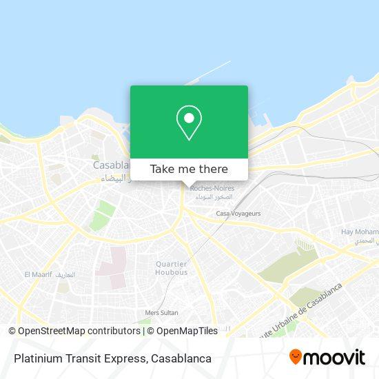 Platinium Transit Express map