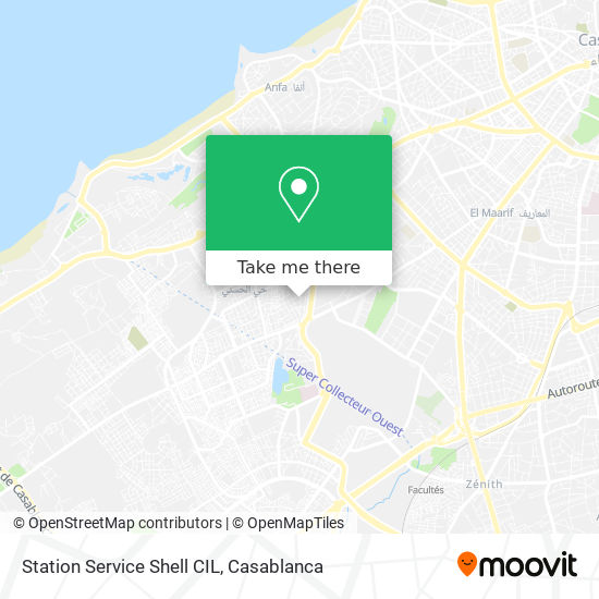 Station Service Shell CIL map
