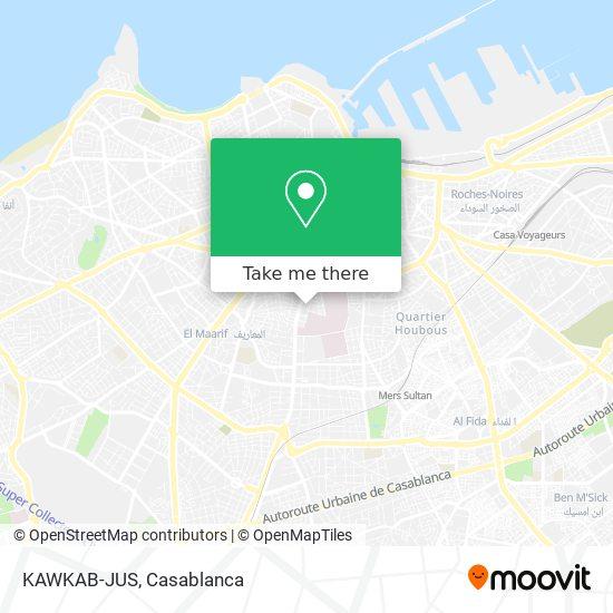 KAWKAB-JUS map