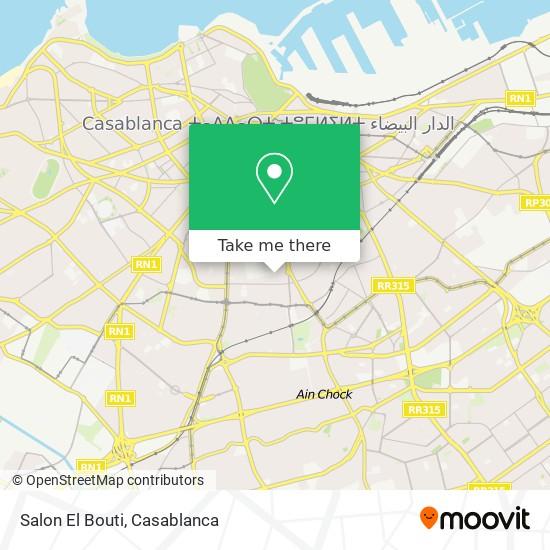 Salon El Bouti map