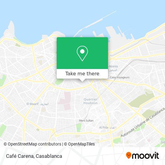 Café Carena map