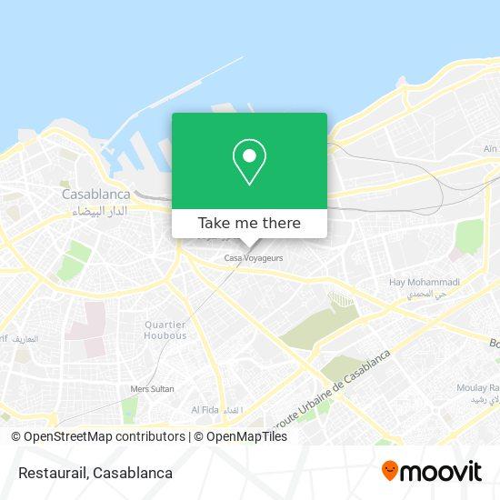 Restaurail map