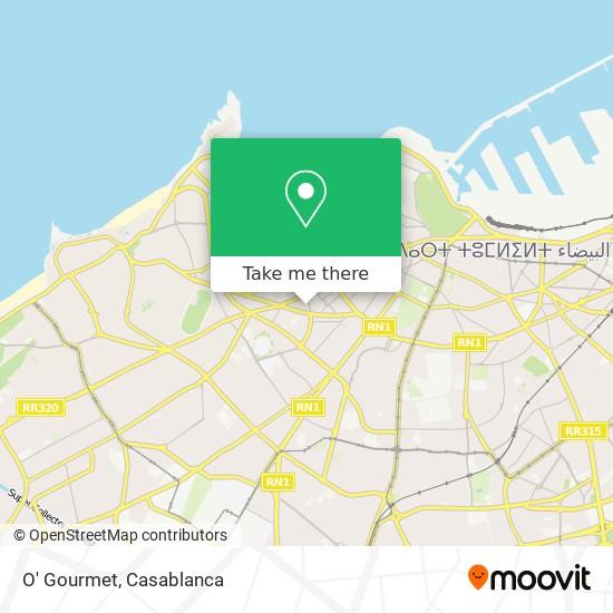 O' Gourmet map