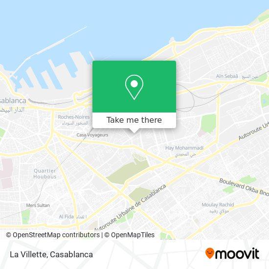 La Villette map