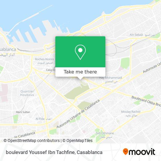 boulevard Youssef Ibn Tachfine map