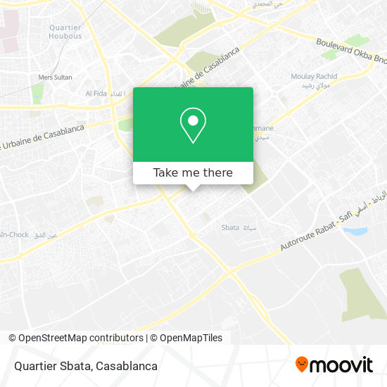 Quartier Sbata map