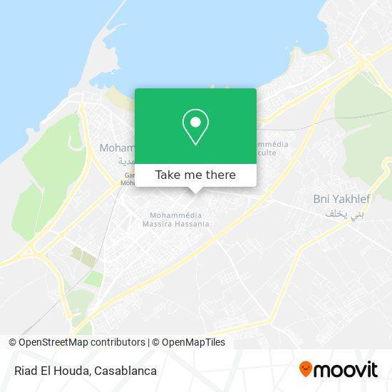 Riad El Houda map