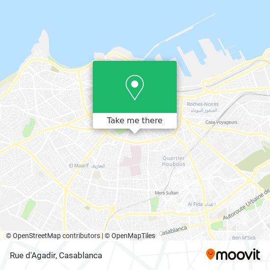 Rue d'Agadir map