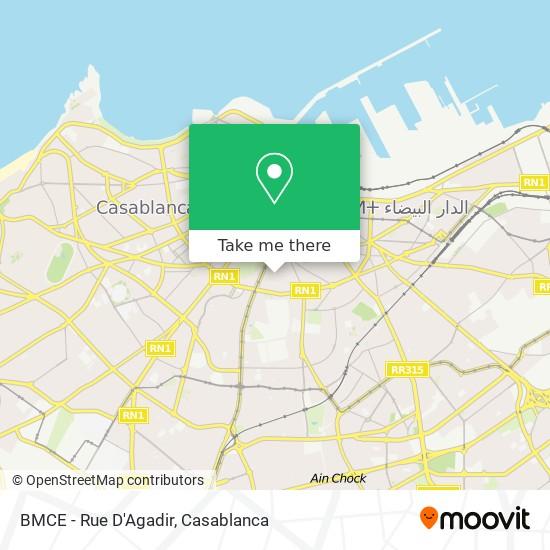 BMCE - Rue D'Agadir map