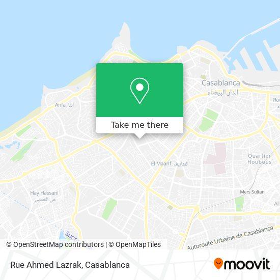 Rue Ahmed Lazrak map